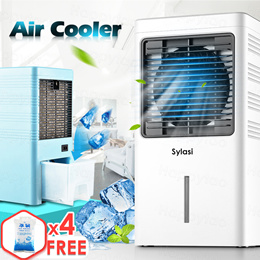Electric Air Cooler Fan Purifier Humidifier 3 in 1 Portable Air Conditioner Strong Wind Fast Cooling