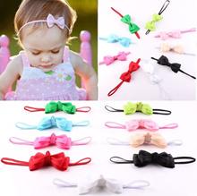 10Pcs Baby Girl Elastic Bow Headband Newborn Hair Band Headdress Headwear