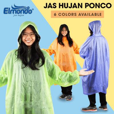 JAS HUJAN PONCO 201 ELMONDO KUAT DAN BUKAN PLASTIK Deals for only Rp9.900 instead of Rp35.357