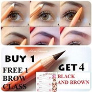 [BUY 1 GET 4] PENSIL ALIS ★Black and Brown★ FOR YOUR BEAUTY AND CONFIDENT FREE MINI BROW CLASS