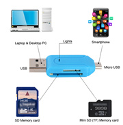 SD Micro SD TF Card Reader For Computer Laptop Android Phones