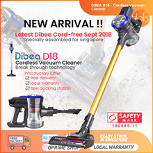Dibea D18 Cordless Vacuum Cleaner Handheld Stick LED Light Large Capacity Household Appliances