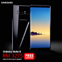 (Buy at RM 3275 with RM 400 coupon discount) SAMSUNG Galaxy Note 8 [6GB/64GB ROM] Samsung Malaysia Warranty - FREE SHIPPING
