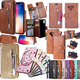 Samsung Galaxy NOTE10 /note 10+ /note8 /note9  wallet  Leather Case / glass