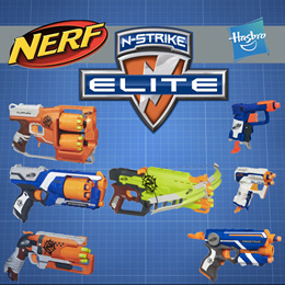 Nerf Gun N-Strike Jolt /Triad EX-3/Strongarm /Refill/ bullets/Flipfury/Hammershot/Dualstrike/MODULUS
