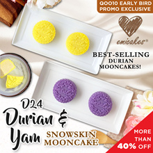Emicakes' Signature Snow Skin D24 Durian Mooncake | Authentic Yam Moon Cake