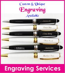 Name Engraving Pen/Teachers Day Gift/Crystal Pen/Christmas Present/Customised Pen
