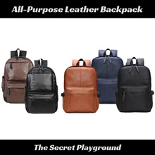 79cba74941 All Purpose Unisex Leather Laptop Backpack Bag for Office Work School Casual