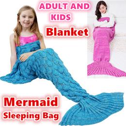 Mermaid Blankets/adult and kids Mermaid Tail Blankets/Sleeping Bag /Sofa Nap Air Condition Blanket