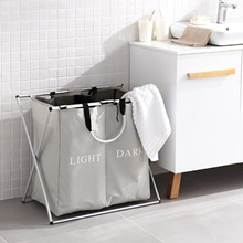 Style Degree - Dual Partition Laundry Organizer - Laundry Organizer Shirt Washing Storage Basket