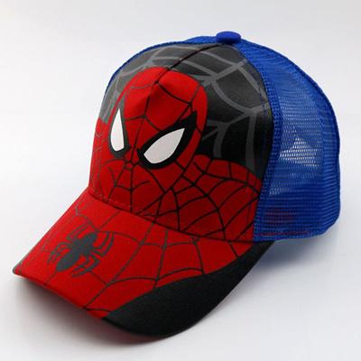 b8da9ceab5f88 sale New Fashion Cartoon Child Baseball Cap Spiderman Super Hero Summer  Kids Sun Hat Mesh Cap