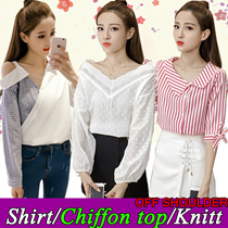 28th】Korean dresses/off shoulder  tops/knitt T-shirts/Sling shirt/Strapless/Cheapest