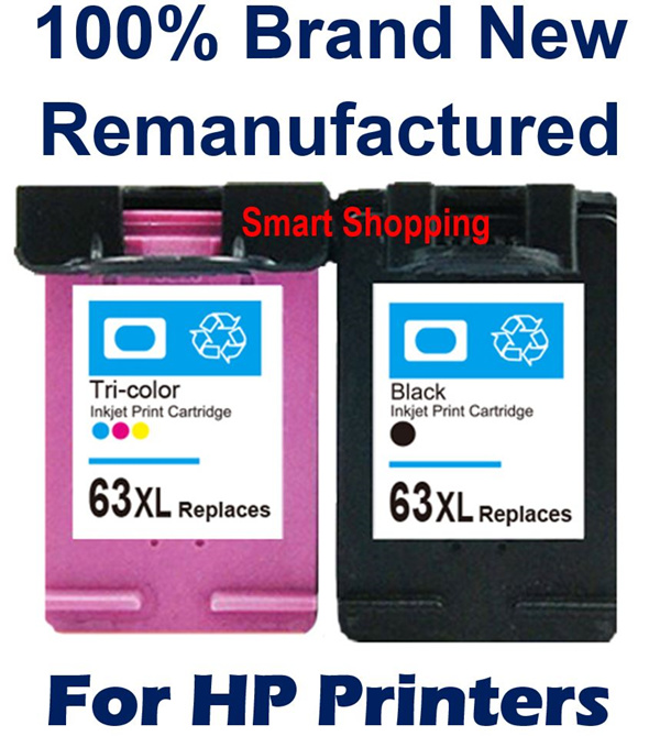 INK 63 XL Black Color for HP Printers Remanufactured Compatible cartridges Envy 4520 3630 2130 etc. Deals for only S$50 instead of S$0