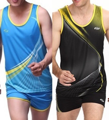 Track Field Running Top and Shorts (653)