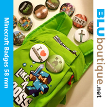 Minecraft Badge * Great for Birthday Parties Goodies Bag * Also can use to decorate your bag