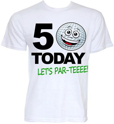 Novelty 50th Birthday Golfer Golf Themed Joke Golfing Slogan Men Short Sleeve T Shirt S