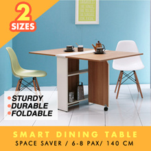 Foldable Smart Dinning Table - Space Saver (6-8 pax)