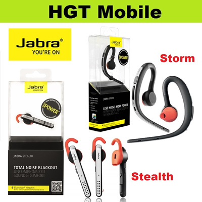 Hgt Mobile Jabra Storm Jabra Stealth Bluetooth Headsets Hd Sound With Noise Reduction Voice Control