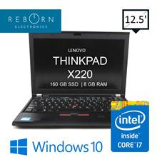 [Refurb] Lenovo Thinkpad X220 / CoreI7- 2nd GEN/ 160GB SSD/ 8GBRAM/ Wins10/ 30DsWarranty