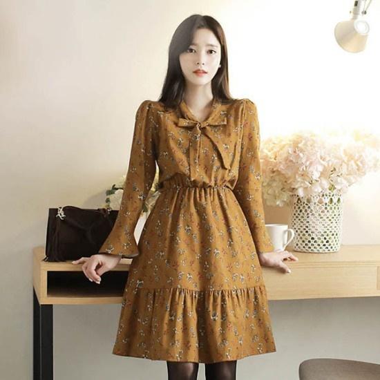 フィオナジャンコッのビロードopsm5318ワンピース 綿ワンピース/ 韓国ファッション