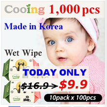 ★ Cooing Wet Wipes 10 Packs ★ wet tissue / baby wet wipes / [TODAY $9.99] 19th RESTOCK