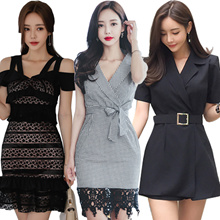 High-quality Slim Sexy skirt/evening dress/Banquet dress/Cocktail dress/High-end/Wrap dress/Pack hip