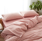 Four-piece bedding set    Four-piece washed cotton yarn-dyed bedding