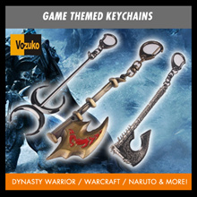 DYNASTY WARRIOR WARCRAFT NARUTO TRANSFORMER ANIME GAME KEY CHAIN