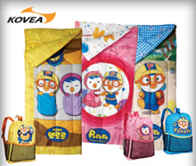 [KOVEA] Pororo sleeping bag / single / camping / kids luggage / backpack / children / gift / baby sleeping bag / bed / tent