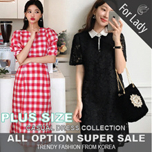 ♥Buy Get Free Gift♥ 24th Sep Update ♥Korean Style♥ Linen / Casual / LOOSE Fit / Dress / Plus Size