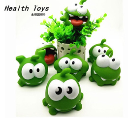 In Stock Kids Toys One Pice 7.5*7.5*6.5cm Genuine Om Nom action Toy With Squeeze-Sounding Action