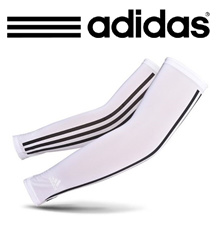 [ADIDAS]Golf Cool Arm Sleeves White 1 pair/Arm Cover/UV PROTECT/Sports/Made in KOREA/Golf Wear