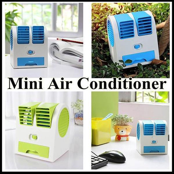 AC Duduk Mini Portable Handy Cooler Fan Kipas Angin Aromaterapi Parfum Double blower Deals for only Rp110.000 instead of Rp110.000
