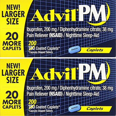 Advil PM Caplets Family pack of 400 Count