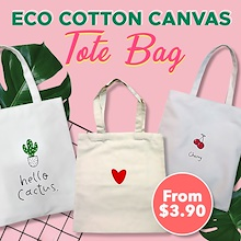 ( Korean Style ) Cotton Canvas Tote Bag / bag / Eco / Recyclable Bags / Shopping Carrier / Sling bag