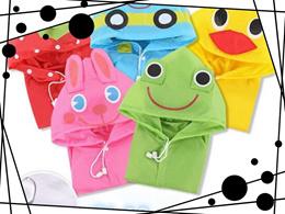 Creative Cartoon children raincoat poncho baby raincoat rain gear #XG42