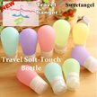 [SweetangelShop] Travel leakproof soft touch bottles containers suitable for travelling gym fitness