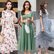 【SPECIAL PROMO!!】Korean dresses/Occupation/Casual/chiffon/lace/suit/Office/Leisure/Bridesmaid/Short