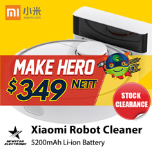 Xiaomi Mi Robot Vacuum Cleaner ★ READY STOCKS★ 5200 mAh Li-ion battery ★ 2.5 hours of charging ★