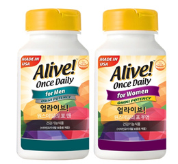 Alive Once Daily Supplement for Men and Women Set