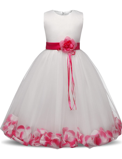 ab788dfd78b discount Flower Girl Dress with Flowers Ribbons for Girls Tulle Dresses  Birthday Party Wedding Cerem