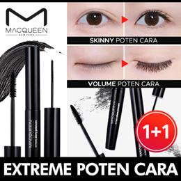 [MACQUEEN] ★1+1★ Extreme Poten Mascara / 2Type / Skinny / Volume