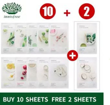 [BUY 10 FREE 2] innisfree My Real Squeeze Mask 20ml X 12pcs [Free Delivery]