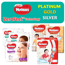 【Apply Qoo10 Coupons 】 ● HUGGIES  - Platinum / Gold / Silver - Authorised SG Reseller
