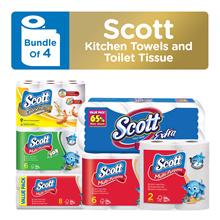 4795f1b7980c Bundles of 4 Scott Pick-A-Size Towels Virgin Fiber Towels Calorie Light  Towels Extra Toilet Tissue