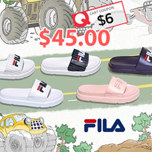 ★ FILA Sandle Slipper Drifter Jacked Up Stripes / Drifter Stripes / Fur Sandals