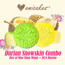 [EMICAKES] EXCLUSIVE OFFER: Mao Shan Wang + D24 Durian Combo Snowskin Mooncakes | 3 Options