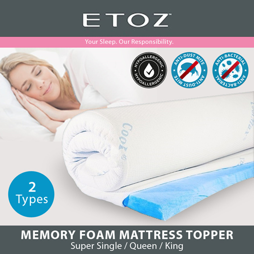 Qoo10 - [ETOZ] Mattress Topper☆Cooling Gel Mattress Topper☆Memory Foam  Topper☆... : Household & Bedd...