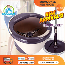 📣 【Boomjoy Official】BOOMJOY M9 Pro 2018 New Magic Spin Flat Mop 360 and Bucket Set 💥