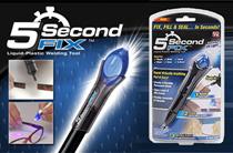 【Local Seller】【Ready Stock】5 Second Fix AS SEEN on TV UV Light Plastic Adhesive Repair Kit